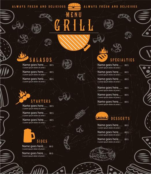 Background Banner Menu Makanan - desain spanduk keren