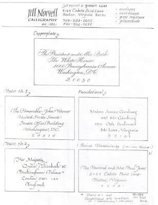 Jill Norvell Calligraphy, Wedding Invitations, District Of