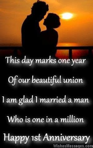 First Anniversary Wishes for Husband: Quotes and Messages