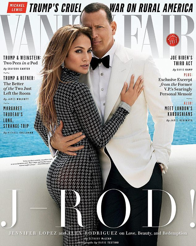 Two good: Jennifer Lopez and Alex Rodriguez are not hiding their love. In fact, the couple are flaunting it these days as they take the December cover of Vanity Fair , where they talk about their attraction