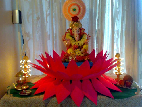 Ganpati  Decoration  Ideas  for Vinayaka  Chavithi at Home