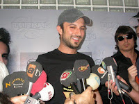 Tarkan was greeted by a mass of media attention on his arrival in Cyprus