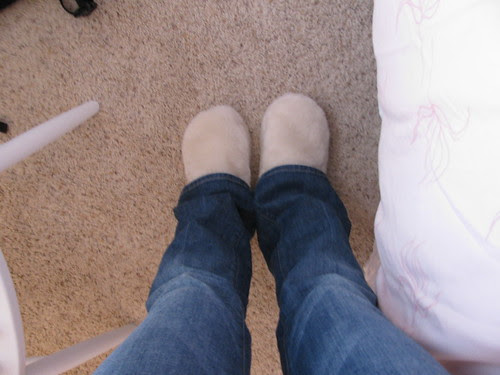 Fuzzy Slippers NOT chew toys