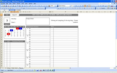 Daily Planner | Excel Templates