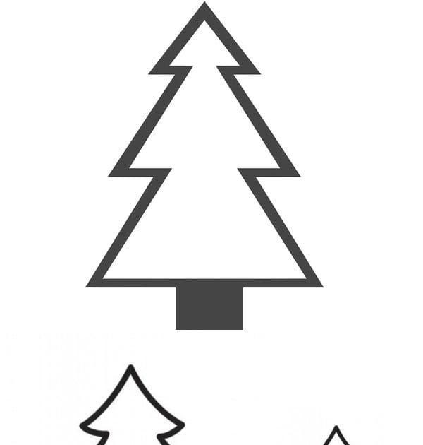 tannenbaum zum ausschneiden  weihnachtsbaummalvorlage