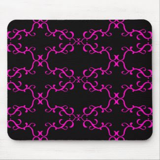 Black and Pink Pattern mousepad