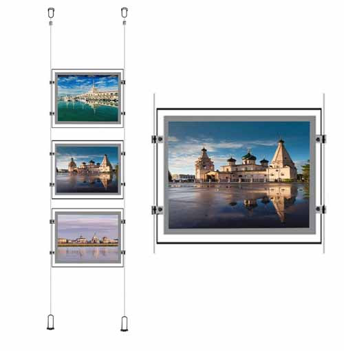 Wire Cable Systemled Window Displaybacklit Poster Frames