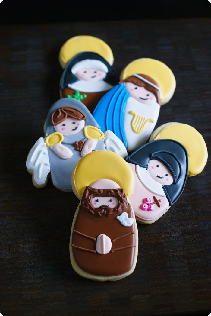 st francis of assisi and st cecilia cookie decorating tutorials...part of an all saints' day set from @bakeat350