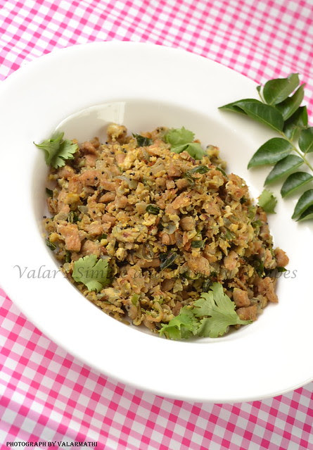 Egg & Soya Chunk Bhurji