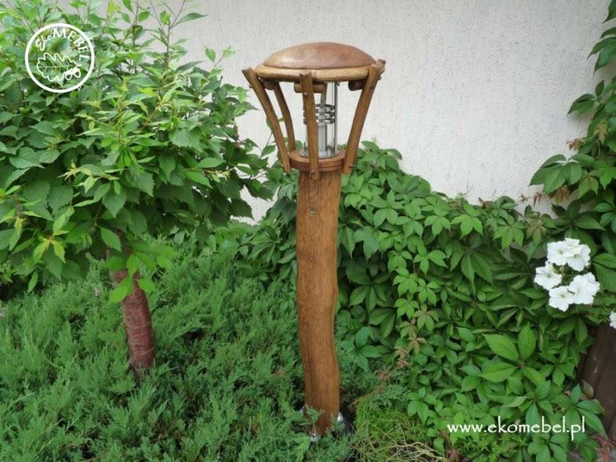 Lampa Zewnętrzna Mała Dębowe Meble Ogrodowe Barowe I