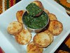 Chapathi Chips and Spinach Chutney by Luv2cook Entry III
