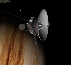 Voyager 1 Jupiter with Europa