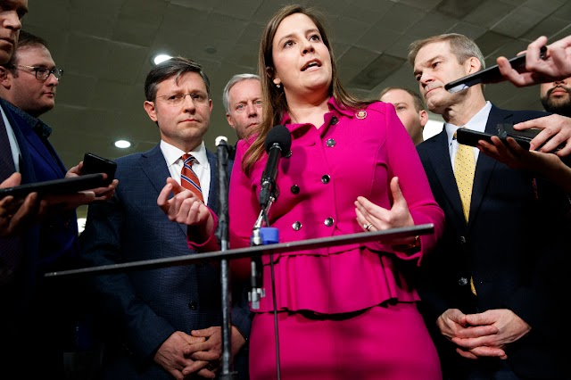 Stefanik faces first public House conservative foe in her push to replace Cheney