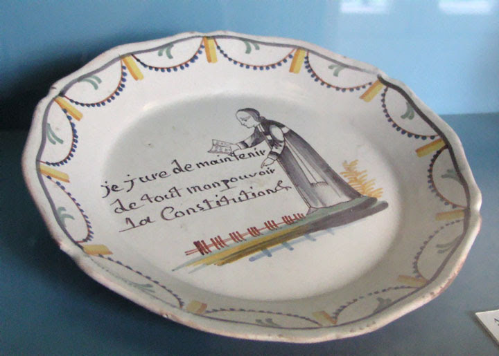 Commemorative plate for the Civil Constitution of the Clergy