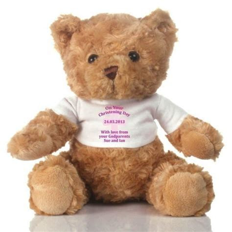 Personalised Baby Girl Christening Day Teddy Bear   The