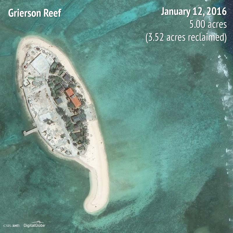 Grierson Reef 2016 | 3.52 acres reclaimed