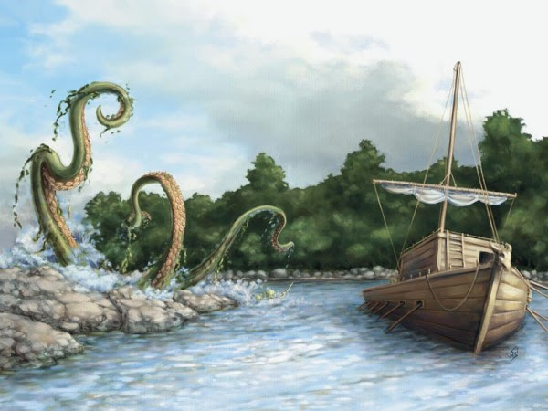 Image result for tentacle attack boat d&d