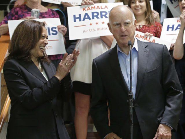 Jerry Brown Kamala Harris (Rich Pedroncelli / Associated Press)