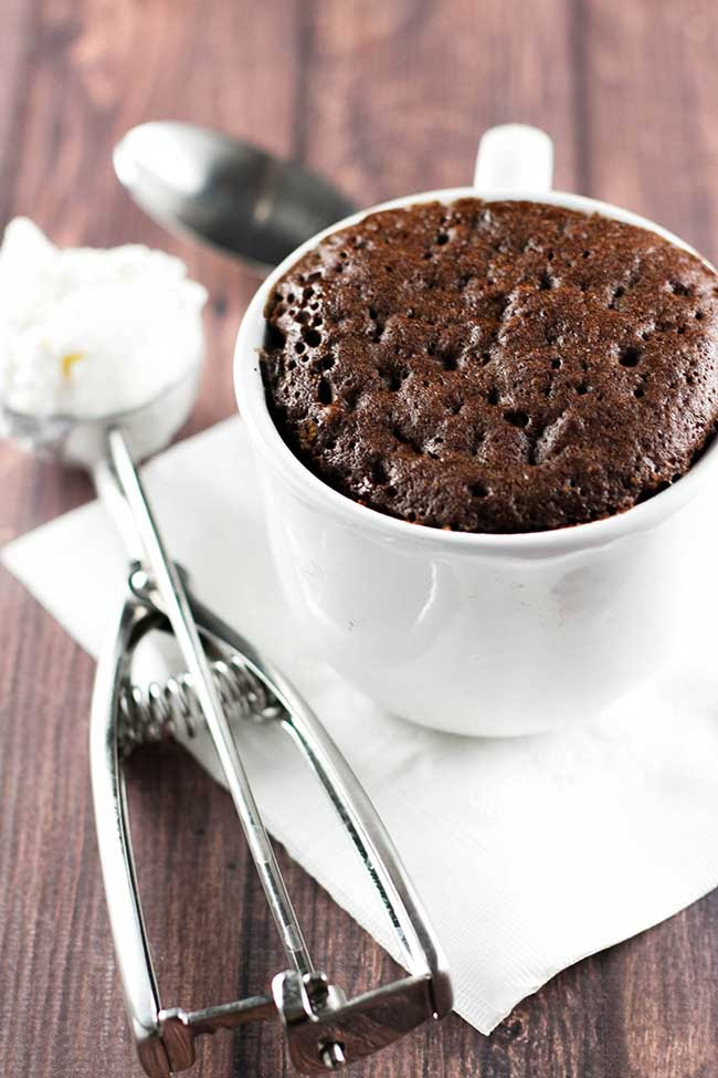 5-Minute Molten Chocolate Mug Cake | Girl Gone Gourmet