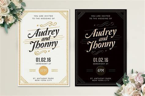 65  Gorgeous Wedding Invitation Templates   Design Shack