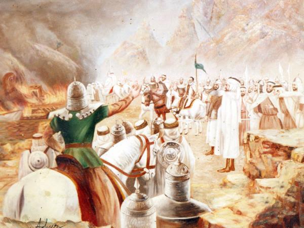 Tariq Bin Ziyad For Burning The Boats Painting
