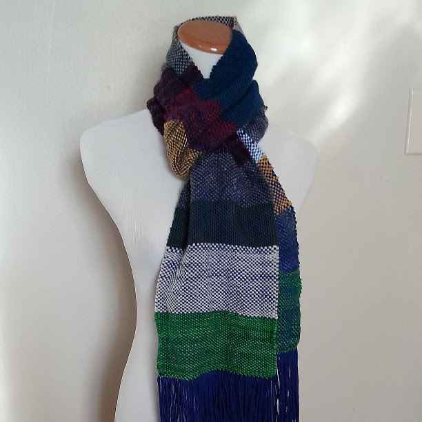 Stashbuster scarf #weaving #craftsy