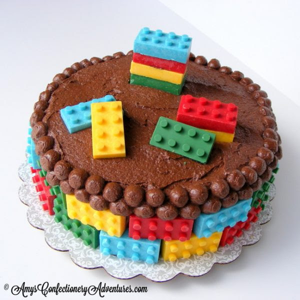 Lego Cake © AmysConfectioneryAdventures.com