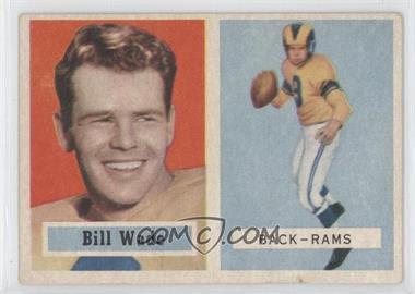 1957 Topps #34 - Bill Wade - Courtesy of CheckOutMyCards.com