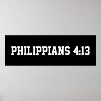 Philippians 4.13 Poster
