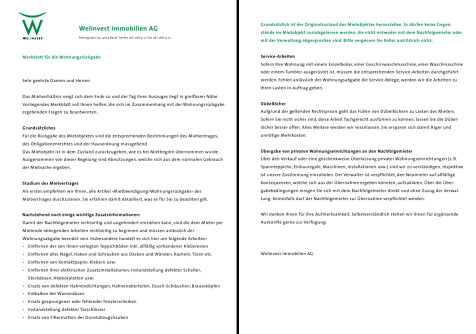 Welinvest Immobilien :: Formulare