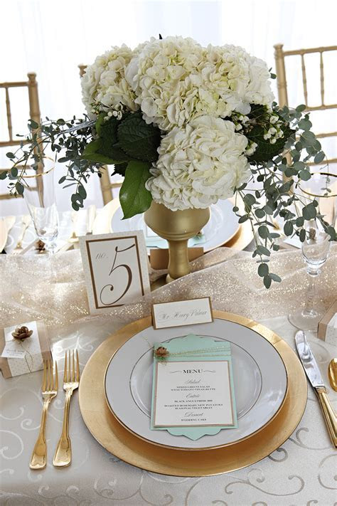 Gold and Mint Wedding Inspiration   Glamour & Grace