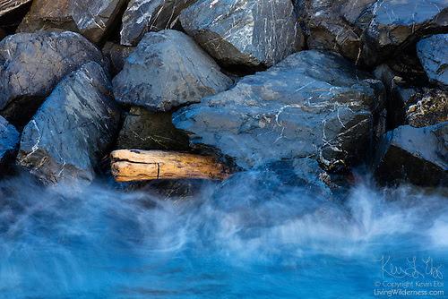 Waves Against Breakwater, Edmonds, Washington