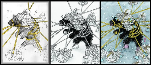 Bear - sketch, drawing, final (Yuko Shimizu)