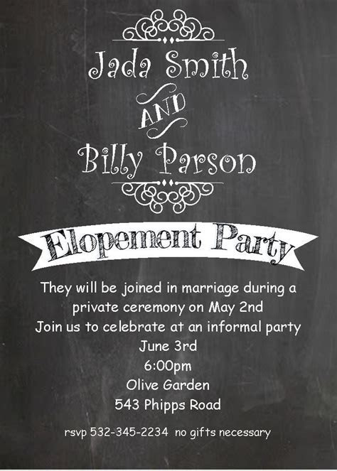 Pin by www.partyinvitations.com on eloping party