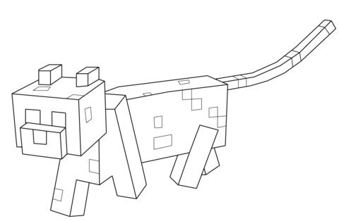 Disegno Di Ocelot Di Minecraft Da Colorare Disegni Da Colorare E