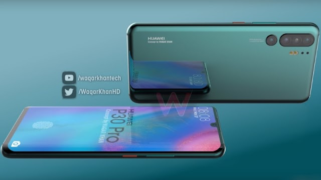 Huawei P30 Pro Concept Render Video Surfaces With Quad Camera Setup, In-Display Fingerprint Sensor