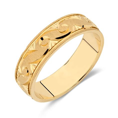mens wedding band  ct yellow gold