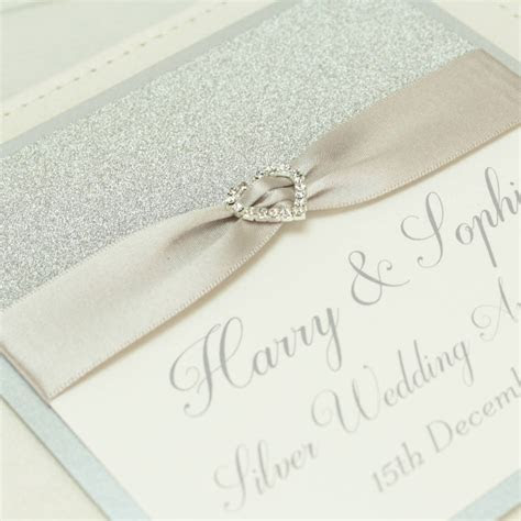 personalised silver wedding anniversary photo album by