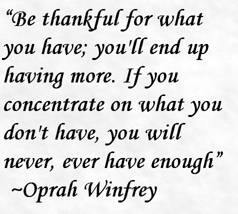Oprah Winfrey Quote About Being Thankful Awesome Quotes About Life