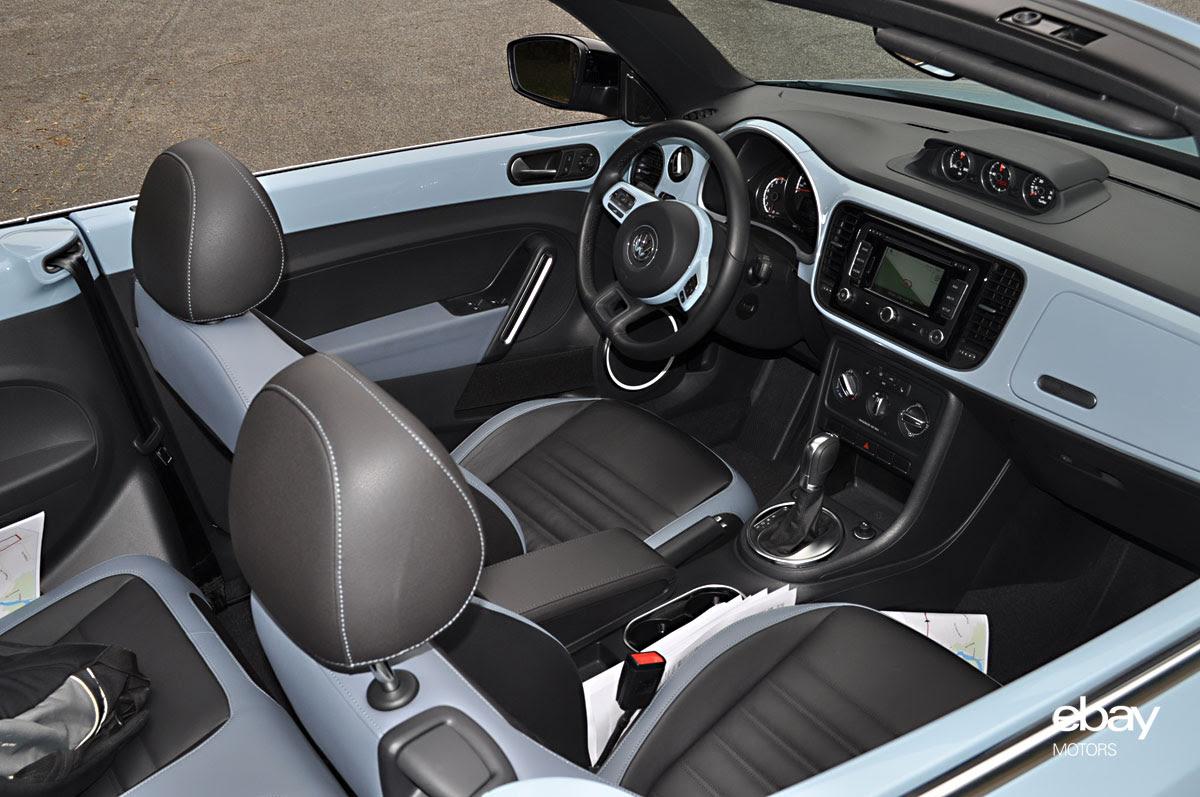 Volk Wagon Volkswagen Beetle Convertible Interior