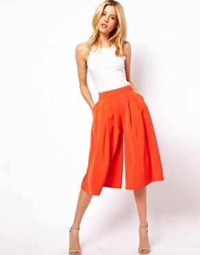 Image 1 of ASOS Culottes with Pleated Front