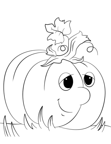 cute cartoon pumpkin coloring page  free printable coloring pages
