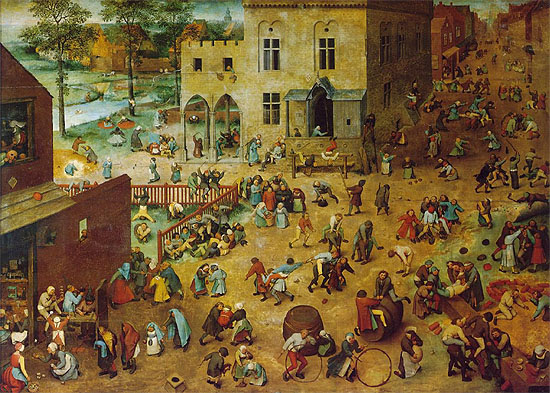id. Pieter Bruegel, Gyermekjátékok (1560)