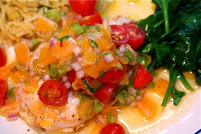 chicken with clementine salsa