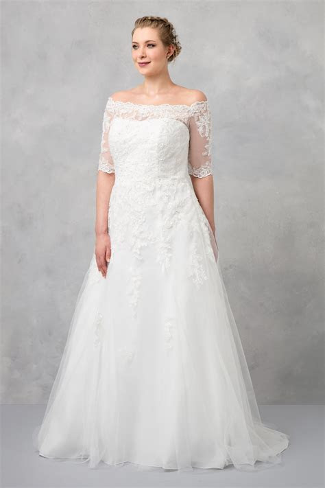 3/4 Sleeve Plus Size Wedding Dress 9WG3734