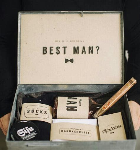 "DIY ""will you be my best man"" box with free printables"