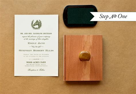 DIY Rubber Stamp Equestrian Wedding Invitations