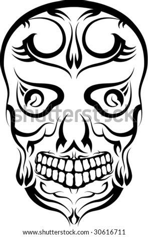 stock vector Skull Tattoo