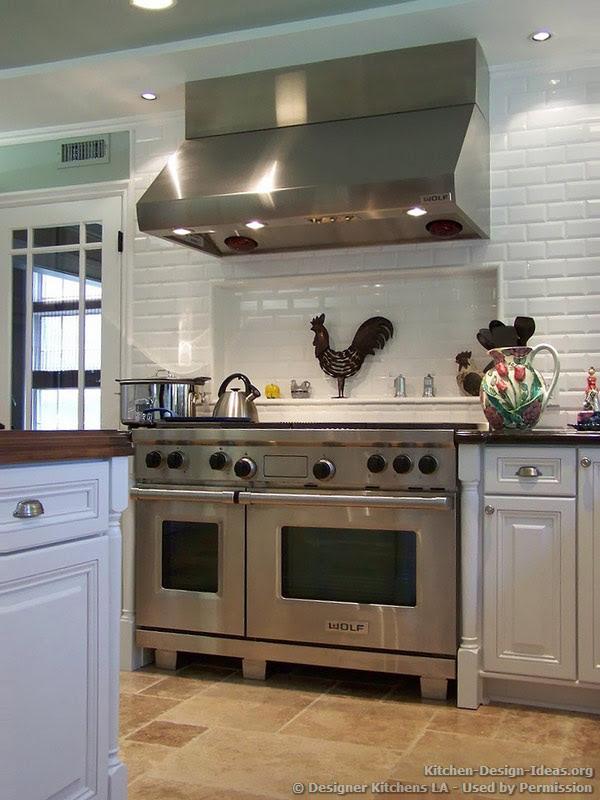 White Kitchen With Professional Range | Home Design Ideas Essentials