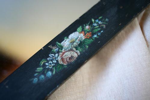 Brimfield Finds - Floral Mirror